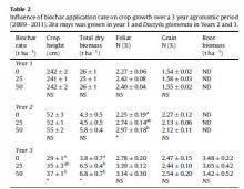 bioszén hatása a növények növekedésére